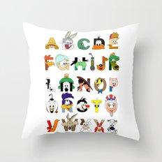 That's Alphabet Folks Throw Pillow