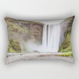 Skogafoss waterfall Rectangular Pillow
