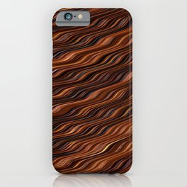 CHOCOLATE rivers of creamy chocolate abstract iPhone Case