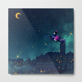 Midnight Flight Metal Print