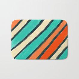 Coloured Stripes Bath Mat