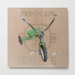 Green Tricycle Metal Print