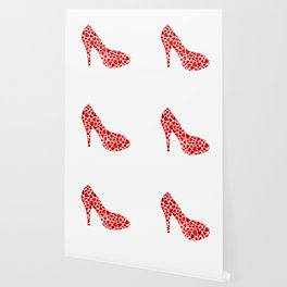 Love my heels- shoe with red hearts Wallpaper