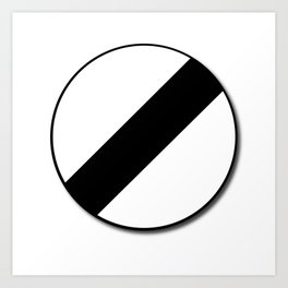 Derestriction Traffic Sign Art Print