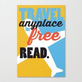 Travel - Just Read Canvas Print