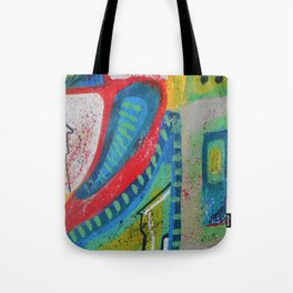 Abstract landscape - bright, eye-opening, vibrant color piece Tote Bag