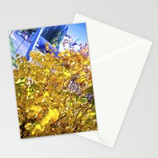 Nature, yellow and blue. Stationery Cards