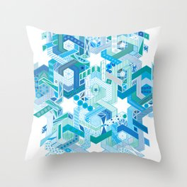 Tessellating Textures Throw Pillow