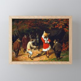 William Holbrook Beard His Majesty Receives Framed Mini Art Print