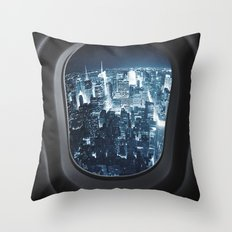 traveling in new york city Throw Pillow