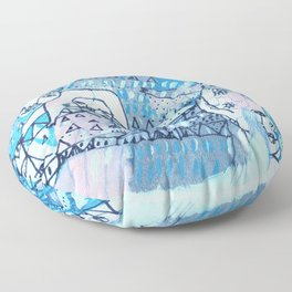 Journey to the Three Sisters Floor Pillow