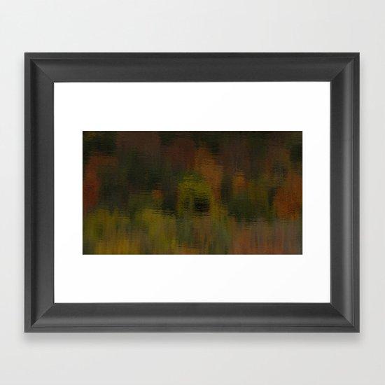 Reflecting Autumn Framed Art Print