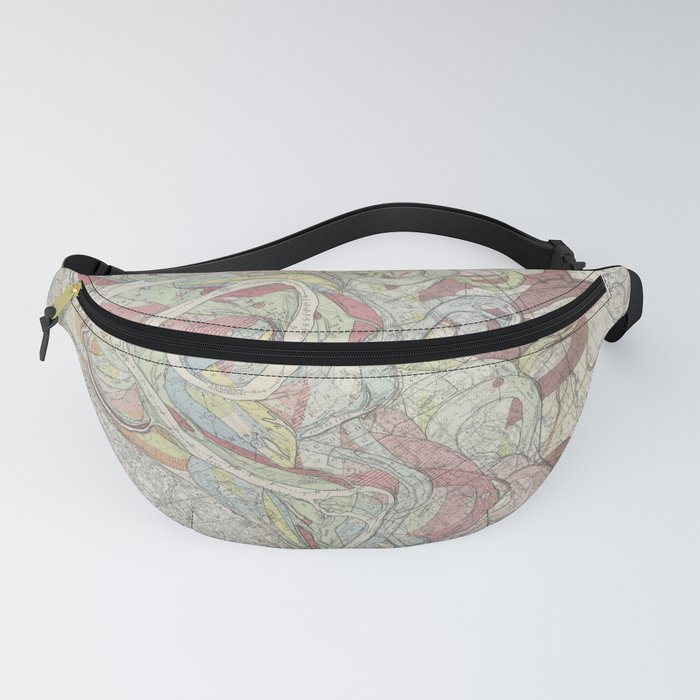 Beautiful Map of the Lower Mississippi River Fanny Pack