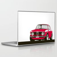 gta Laptop & iPad Skins featuring Alfa Romeo Giulia Sprint 1600 GTA. by Graphic Deluxe
