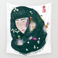 perfume Wall Tapestries featuring Hair Perfume by Luna Kirsche