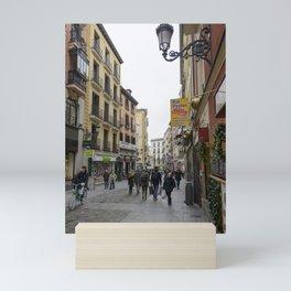 Morning Street Scene in Madrid Mini Art Print