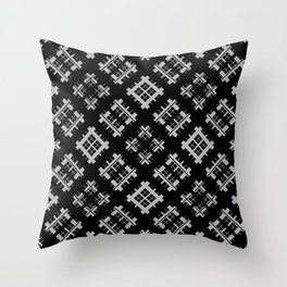 Gray-black, ornament #Scandinav Throw Pillow