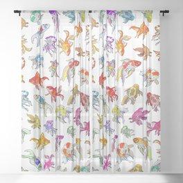 Colorful Fish Sheer Curtain