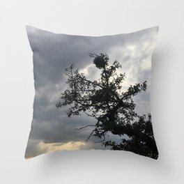 Stormy Mood Photography Throw Pillow