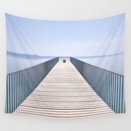 Bridge of La Passerelle de l'Utopie. Neuchatel, Switzerland Wall Tapestry