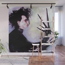 Edward Scissorhands: The story of an uncommonly gentle man. Wall Mural
