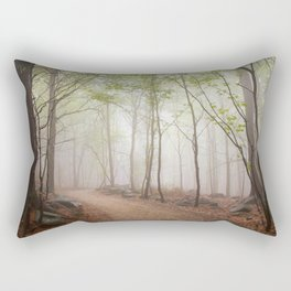 A Walk In The Foggy Forest Rectangular Pillow