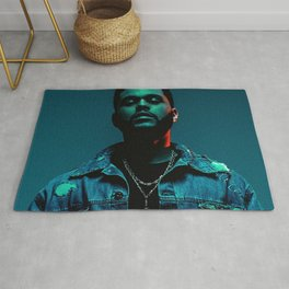 Portrait of the.Weeknd Rug