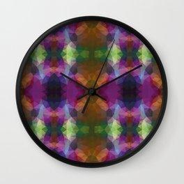Colorful kaleidoscopic design Wall Clock
