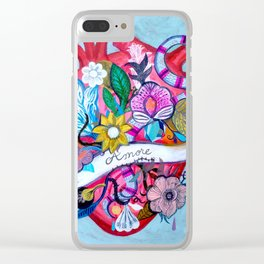 Amore Clear iPhone Case