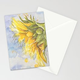 Helianthus annuus: Sunflower Abstraction Stationery Cards