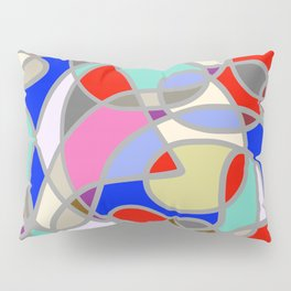 Stain Glass Abstract Meditation Painting 1 Pillow Sham
