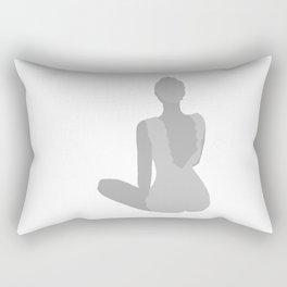 WOMAN - back, light Rectangular Pillow