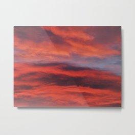 Dramatic Orange Sunset Clouds Metal Print