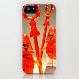 Ching Dynasty Chinese Warrior Custom LEGO Minifigure with Trans Orange Armour by Chillee Wilson iPhone Case