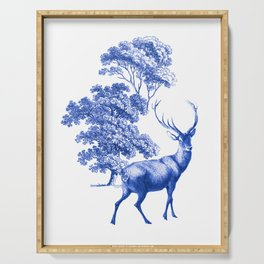 Classic French Toile Countryside Deer Pattern Serving Tray
