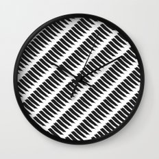Black and White Tiger Stripes Wall Clock