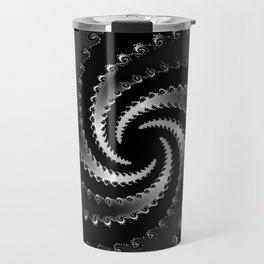 Dark Vortex Fractal Travel Mug