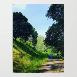 Walk Past a Hill Poster