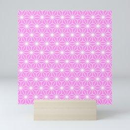 Girly Pink Geometric Isosceles Triangle Pattern Mini Art Print