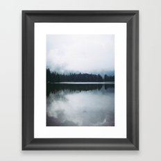 Forest reflections Framed Art Print