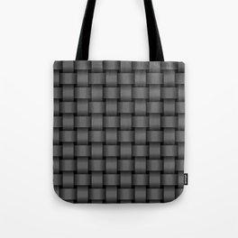 Dark Gray Weave Tote Bag