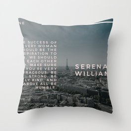 Serena Williams On Women Supporting Each Other 4 Throw Pillow