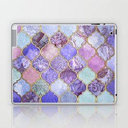 Royal Purple, Mauve & Indigo Decorative Moroccan Tile Pattern Laptop & iPad Skin