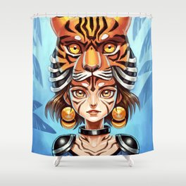 Tiger Tribe Shower Curtain