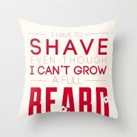 beard Throw Pillows featuring Beard by PaulWorm