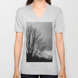 Deadly monochromatic tree Unisex V-Neck