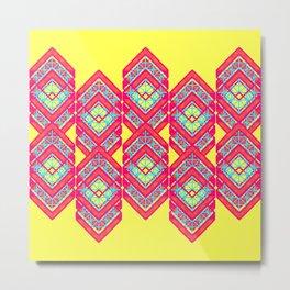 Squared Yellow Metal Print