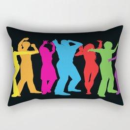 People Dancing Rectangular Pillow