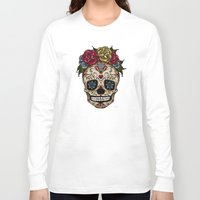 "sugar skull Long Sleeve T-shirts featuring ""SUGAR SKULL"" by Magdalena Sky - The Moth"