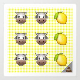 Milk Milk Lemonade Emoji Art Print